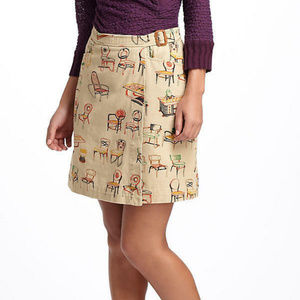 Anthropologie Chairs Canvas Wrap Skirt